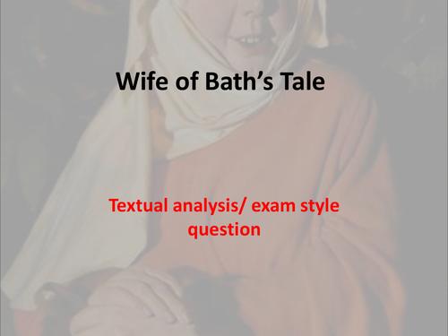 Wife of Bath's Tale essay plan
