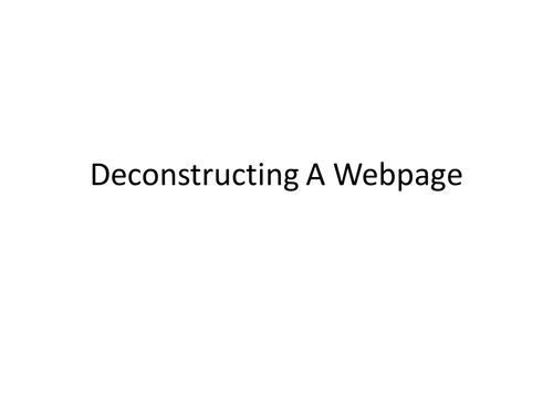 The Royals webpage deconstruction