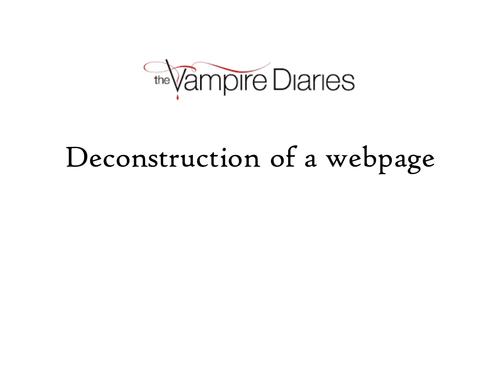 Vampire Diaries webpage deconstruction