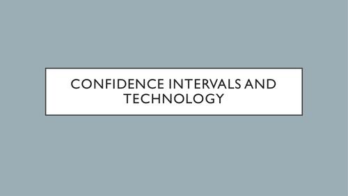 AQA - 3.3.3 - Market Research Interpreting Data - Confidence intervals