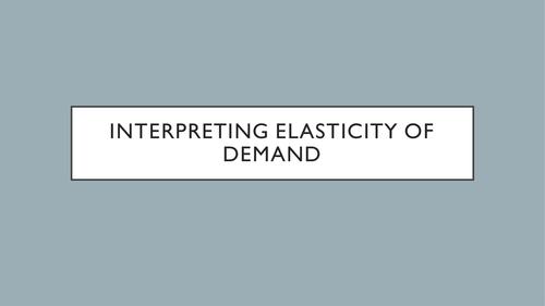 AQA - 3.3.4 - Price Elasticity of Demand - PED