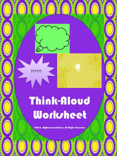 Think Aloud Worksheet