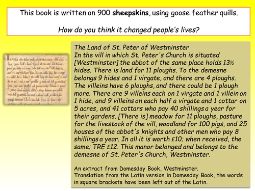 Domesday Book - how did it affect the Saxon people?