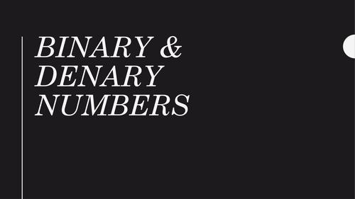 Binary Numbers Presentation