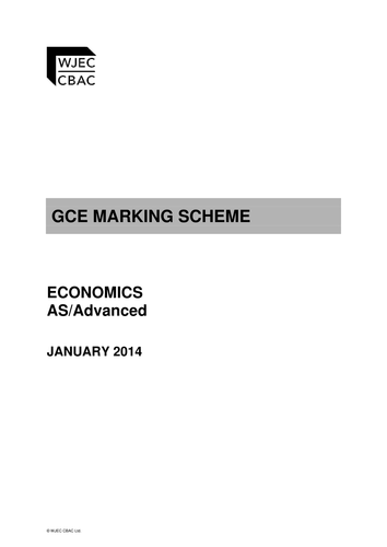 A Level Economics - Mock Exam