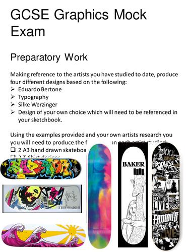 GCSE Graphic Communication - Mock Exam resources