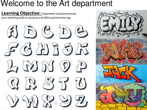Name tag using a Graffiti style
