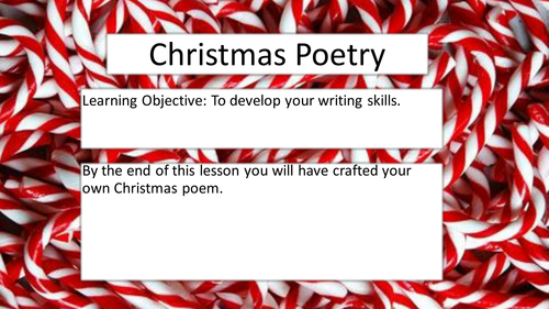 A Stand Alone Christmas Poetry Lesson