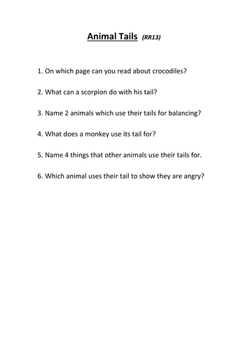 Reading Questions for popular guided reading books