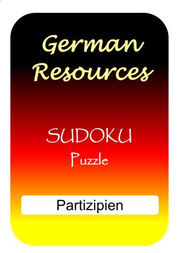 German Puzzles - Das Perfekt mit haben - Partizipien - Sudoku