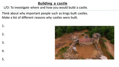 *Full Lesson*  Lesson 2:  Best place to build a castle.