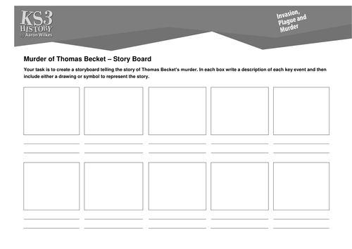 murder of thomas becket by scutmorgan teaching resources tes