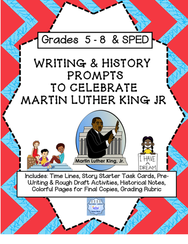 Writing & History Prompts to Celebrate Martin Luther King Jr. (Grades 5-8)