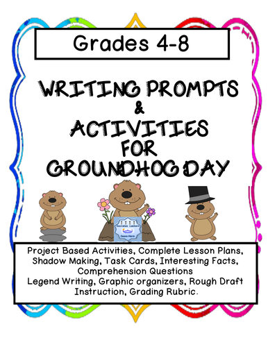 Writing Prompts & Activities for Groundhog Day (Grades 4-8)