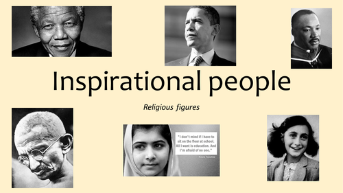 Inspirational figures in religion
