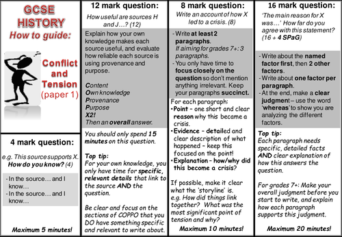 AQA 9-1 GCSE Conflict and Tension 'how to' exam Q guide