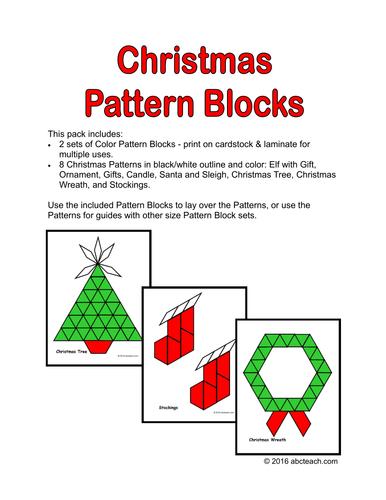 Math: Christmas Pattern Blocks