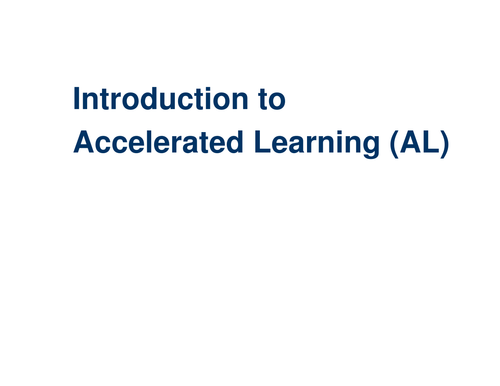 Accelerated Learning Introduction