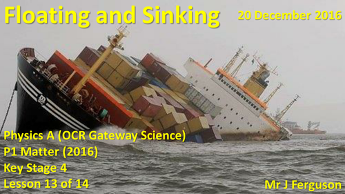 P1 L13 Floating and Sinking