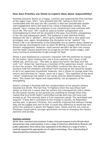 an inspector calls  model responses for aqa english literature  an inspector calls  model responses for aqa english literature paper  by  hmbenglishresources  teaching resources