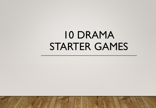 10 Active Drama or English Games Starters