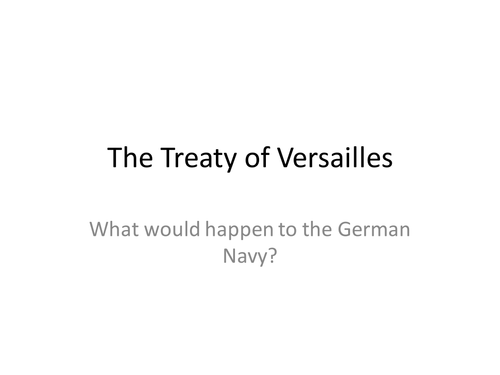 could the treaty of versailles be
