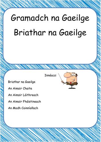 Na haimsirí Gaeilge - Verb tenses in Irish Booklet