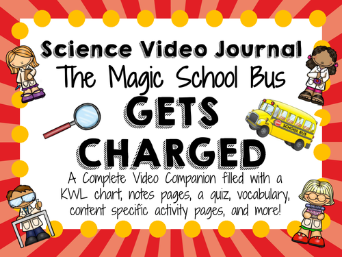 Magic School Bus Gets Charged Video Journal by – Magic School Bus Worksheets