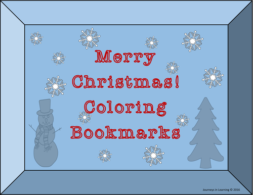 MERRY CHRISTMAS Coloring Bookmarks
