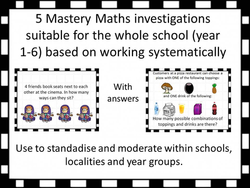 Mastery Maths investigations suitable for the whole school