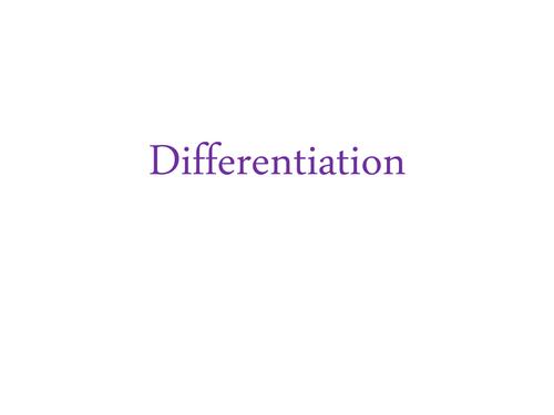 Differentiation ideas