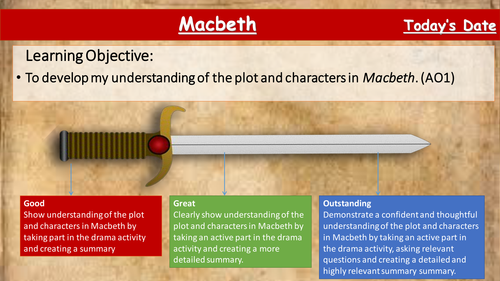 Macbeth - Lesson 1- Introducing the Play- Tailored for the new Eduqas GCSE