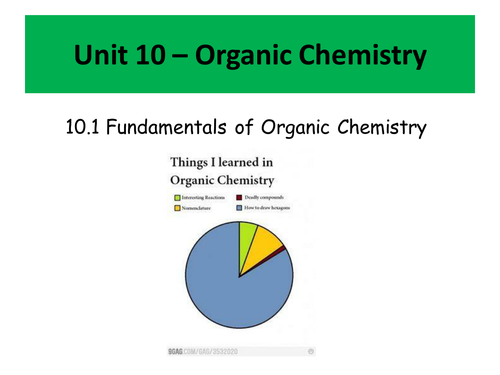 Organic Chemistry - Fundamentals and Functional Groups