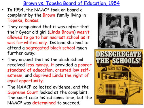 Brown vs. the Topeka Board of Education