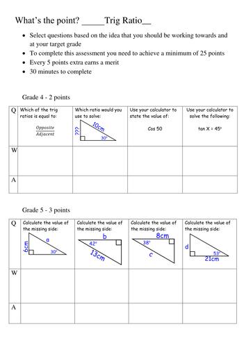 Trig Ratios Trigonometric Trigonometry in 2D   Topic ...