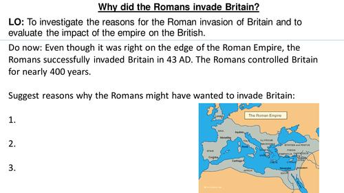 *Full Lesson* The Roman Empire: Roman invasion of Britain
