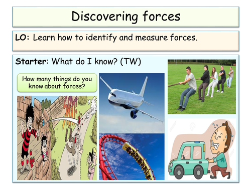 New KS3 (Forces unit) - Discovering and measuring forces