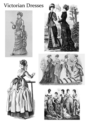 The Victorians -  Women and Children's Clothing Art Activity