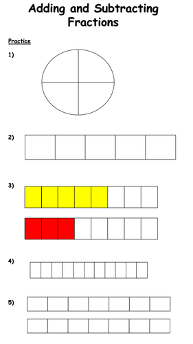 adding and subtracting fractions lesson same denominators by