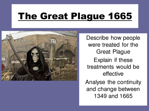 The Great Plague 1665 KS3