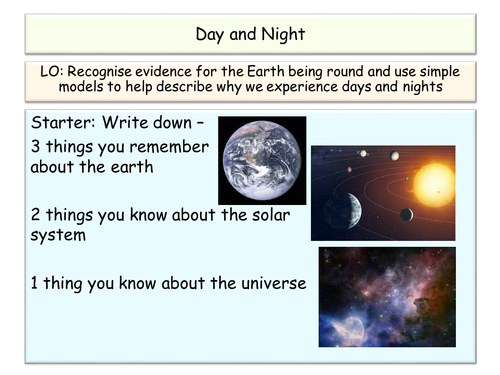 KS3 Space Day and Night