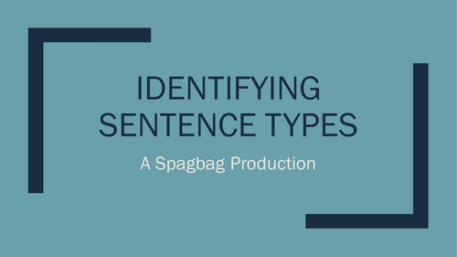 identifying sentence types: simple,complex,compound and minor.