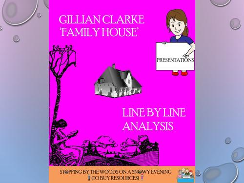 'Family House' - Gillian Clarke - Line by Line analysis