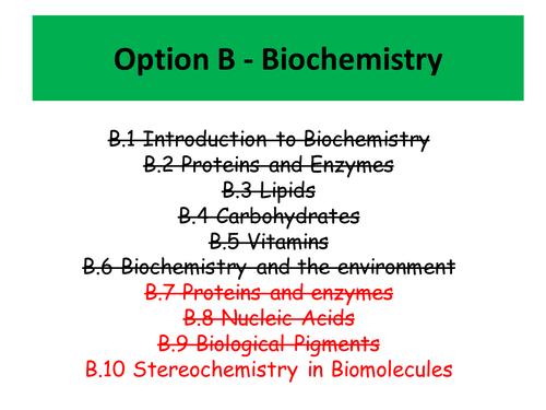 Stereochemistry in biomolecules