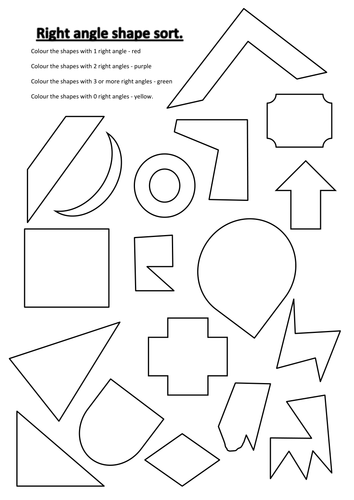 Right Angle Shapes : Primary geometry and measures teaching resources angles tes