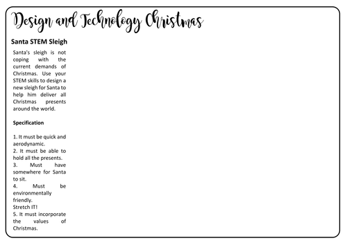 4 Christmas Design and Technology Activities