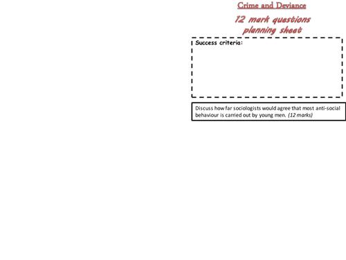 Crime and Deviance essay Qs