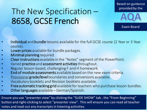 New French GCSE (AQA), 1:Identity and Culture-Relationships-LESSON C, D, E&F - Character/Appearance