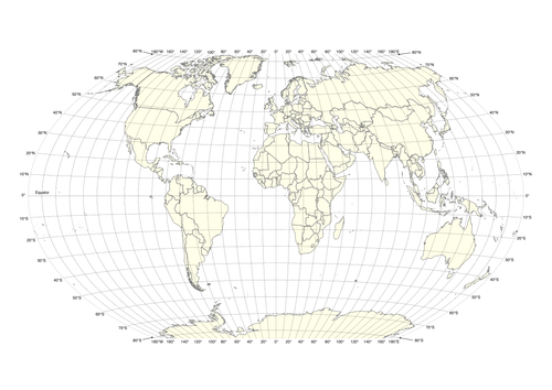 World Map With Latitudelongitude Grid By Swintrek Teaching - World map with longitude and latitude