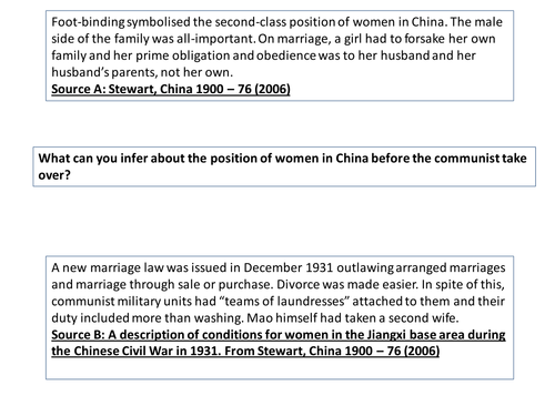 Mao's China: Women - the New Marriage Law (Edexcel A-Level History)